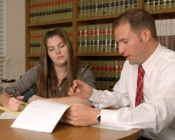 Attorney Giardina working on a garnishment case almost 20 years ago